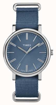 Timex 中性海军蓝色表盘藏青色表带 TW2P88700