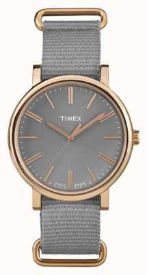 Timex 中性灰色表盘灰色织物表带 TW2P88600