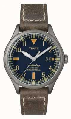 Timex 沃特伯里海军表盘棕色表带 TW2P84400