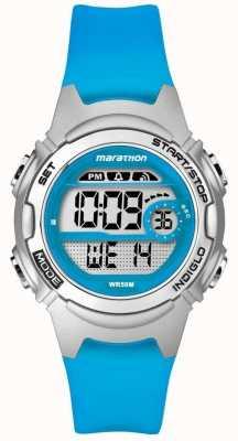 Timex 儿童马拉松闹钟计时码表蓝色 TW5K96900