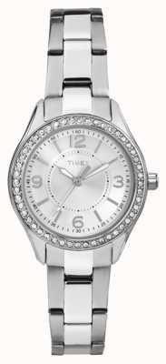 Timex 女人迈阿密迷你银色不锈钢表带银色表盘 TW2P79800