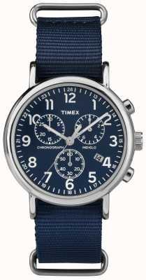 Timex 男女通用周末计时码表海军蓝 TW2P71300