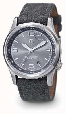 Elliot Brown 男士tyneham灰色表带灰色表盘展示底盖 305-D02-F01