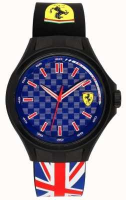 Scuderia Ferrari 男士矿工队联盟旗帜橡胶表带蓝色表盘 0830351