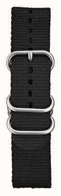 Elliot Brown 男士 22 毫米黑色弹道尼龙拉丝五金 STR-N03