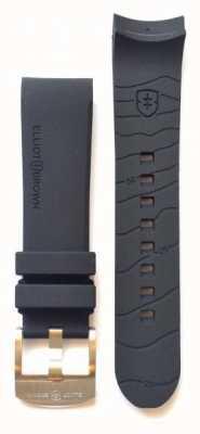 Elliot Brown 只有男士22毫米黑色橡胶舌头扣表带 STR-R01