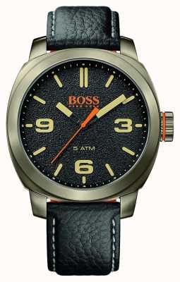 Hugo Boss Orange 男士开普敦黑色真皮表带金色表壳黑色表盘 1513409