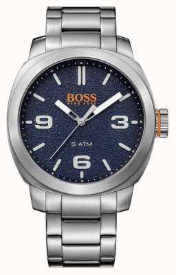 Hugo Boss Orange 男士开普敦不锈钢手链蓝色表盘 1513419