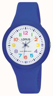 Lorus 中性蓝色橡胶表带白色表盘 RRX45EX9