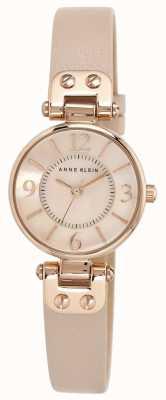 Anne Klein 女装皮革表带玫瑰金色调表壳 10/N9442RGLP