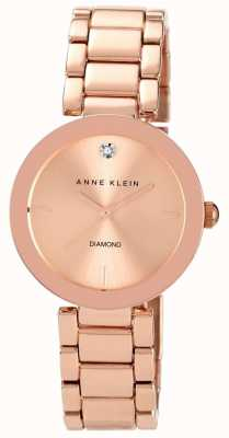 Anne Klein 女式玫瑰金色调手链玫瑰金表盘 AK/N1362RGRG