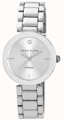 Anne Klein 女士不锈钢表链银色表盘 AK/N1363SVSV