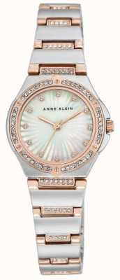 Anne Klein 女式双色手镯珍珠母贝表盘 AK/N2417MPRT
