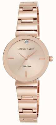 Anne Klein 女式玫瑰金色调手链玫瑰金表盘 AK/N2434RGRG