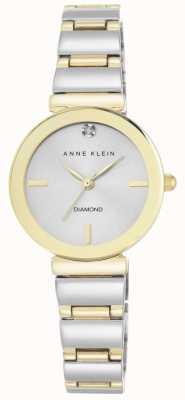Anne Klein 女式双色手镯银色表盘 AK/N2435SVTT