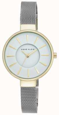 Anne Klein 女式不锈钢网状白色表盘 AK/N2443WTTT