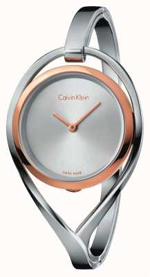 Calvin Klein 女式轻中度不锈钢手镯玫瑰金表壳 K6L2MB16