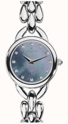 Michel Herbelin 女人瀑布蓝色珍珠母立方氧化锆表盘 17475/B60