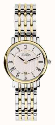 Michel Herbelin 女人两色不锈钢金银色表带 16945/BT01