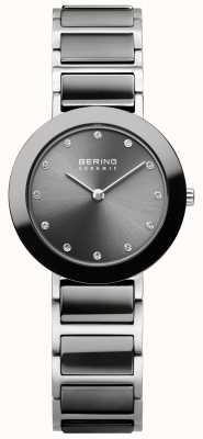 Bering 女人不锈钢灰色陶瓷 11429-783