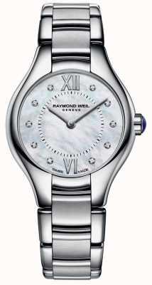 Raymond Weil 女人不锈钢10钻石珍珠母贝表盘 5124-ST-00985