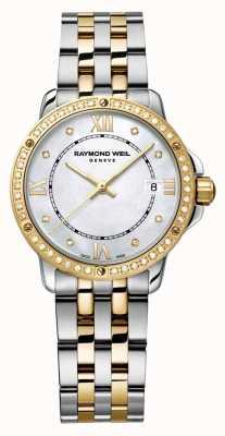 Raymond Weil 女人探戈双色钻石圆点珍珠母 5391-SPS-00995
