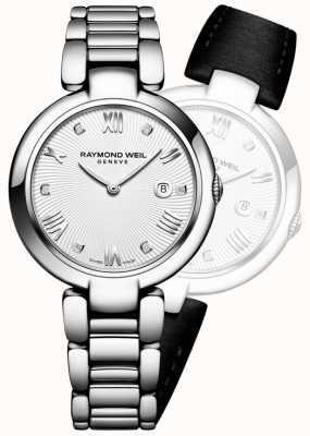 Raymond Weil 女人闪耀不锈钢银色钻石 1600-ST-00618