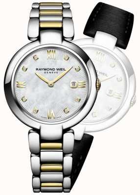 Raymond Weil 女人闪耀双色不锈钢钻石点 1600-STP-00995