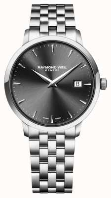 Raymond Weil 男士石英机芯不锈钢木炭表盘 5488-ST-60001