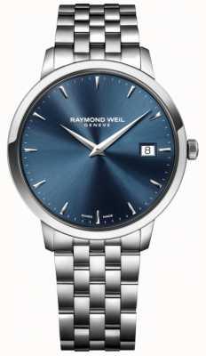 Raymond Weil 男士石英机芯不锈钢蓝色 5488-ST-50001