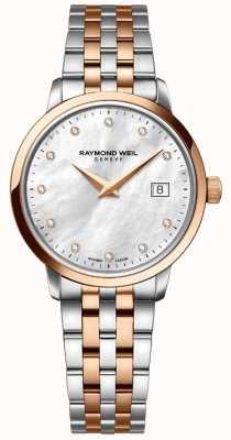 Raymond Weil 女人两音玫瑰金钻石点 5988-SP5-97081