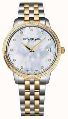 Raymond Weil Womans toccata手表|双色不锈钢/ pvd带| 5988-STP-97081