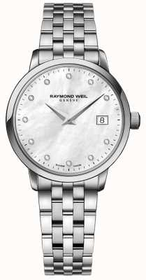 Raymond Weil 女士toccata石英不锈钢银钻点 5988-ST-97081