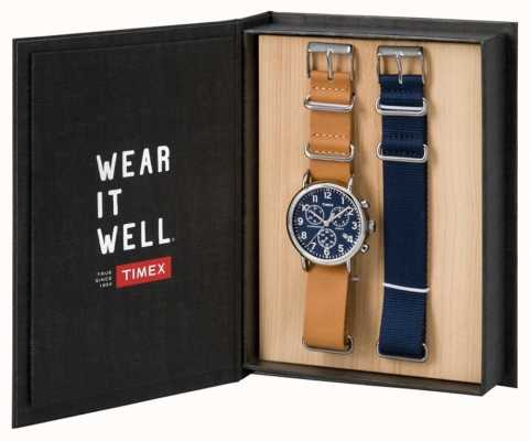 Timex 男士周末计时码表礼品套装 TWG012800