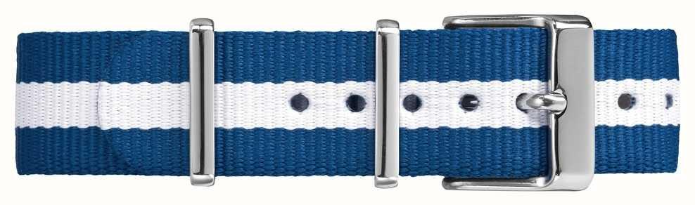 Timex Weekender Fairfield 18mm蓝色白色表带 TW7C07300