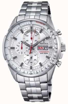 Festina 男士计时表不锈钢表链银色表盘 F6844/1