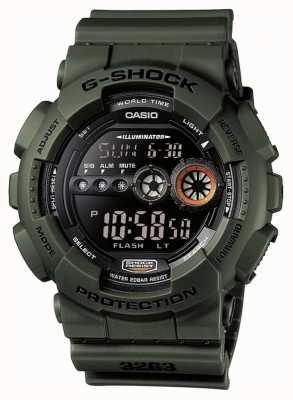 Casio 男士限量版g-shock绿色 GD-100MS-3ER
