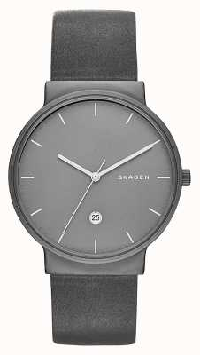 Skagen Ancher钛金和皮革手表 SKW6320