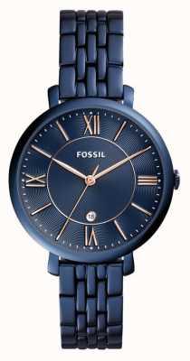 Fossil 女士jacqueline蓝色不锈钢手表 ES4094