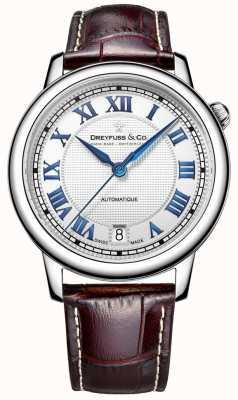 Dreyfuss 男士不锈钢1925腕表,配以棕色皮革表带 DGS00148/01