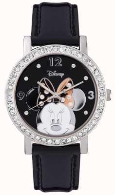 Disney Adult 米妮鼠标不锈钢银色表壳 MN1149