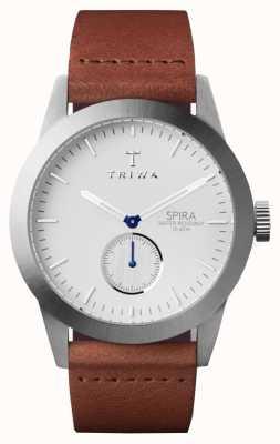 Triwa 男士象牙白色棕色皮革 SPST102-CL010212