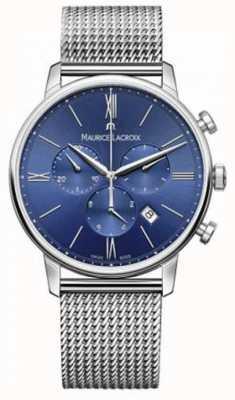 Maurice Lacroix 男士eliros计时蓝色网眼表带 EL1098-SS002-410-1