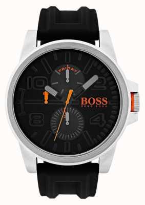 Hugo Boss Orange 底特律黑色橡胶日日显示腕表 1550006