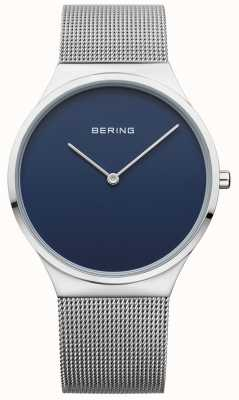Bering 男士经典网状蓝色表盘 12138-007