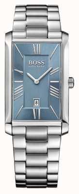 Hugo Boss 男士海军上将不锈钢手链蓝色表盘 1513438