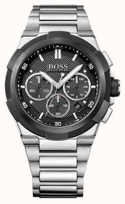Hugo Boss 男士超新星不锈钢表链黑色表盘 1513359