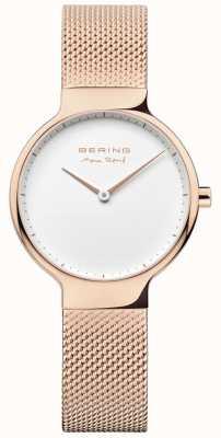 Bering 女士最大rené可互换网带玫瑰金 15531-364