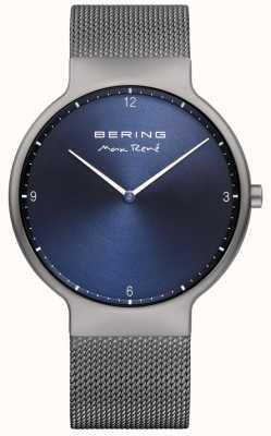 Bering 男士最高可更换网眼表带灰色 15540-077
