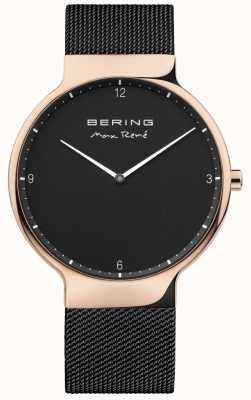 Bering 男士最大rené可互换网带黑色 15540-262